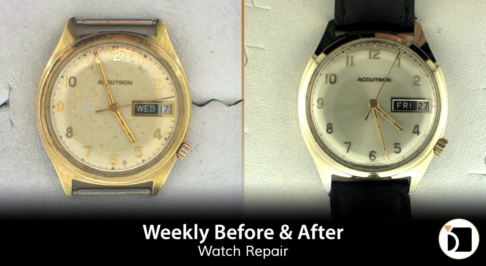 Image showing Bulova Watch Restoration Before and After