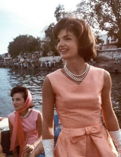 Image showing Jackie Kennedy wearing First Lady Jewelry
