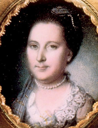 Image showing Martha Washington wearing First Lady Jewelry