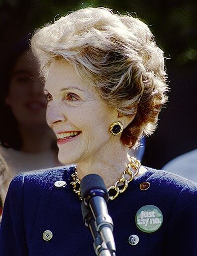 Image showing Nancy Reagan wearing First Lady Jewelry