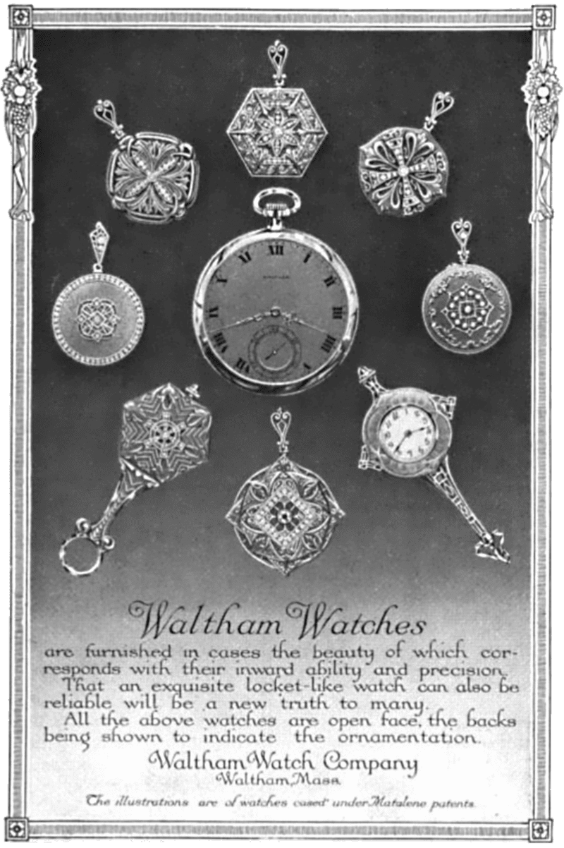 Image showing Waltham Watch Advertisement from 1913