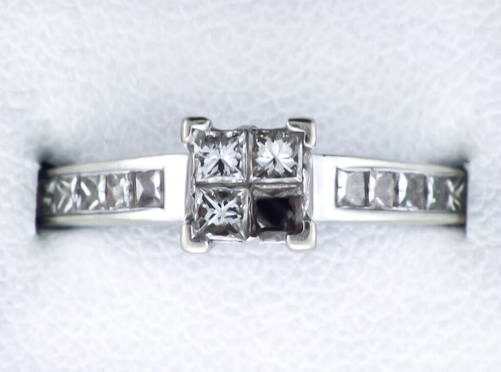 Image showing Invisible Setting Jewelry Information After A Repair