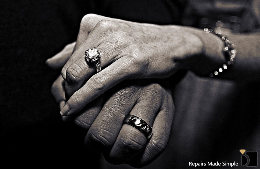 Anniversary and wedding rings