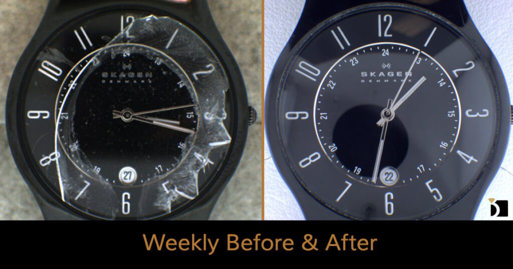 Image Showcasing Weekly Before After 47: A Skagen Watch Restoration
