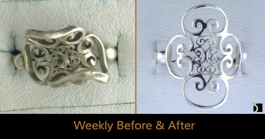 Image Showcasing Weekly Before After 48: A Tiffany Ring Repair