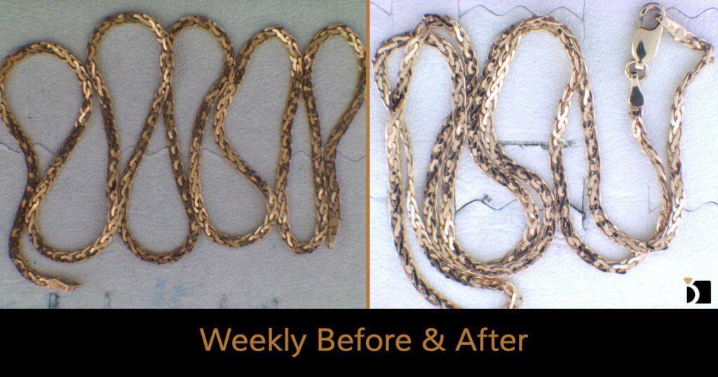 Image Showcasing Weekly Before After 49: A Gold Chain Repair