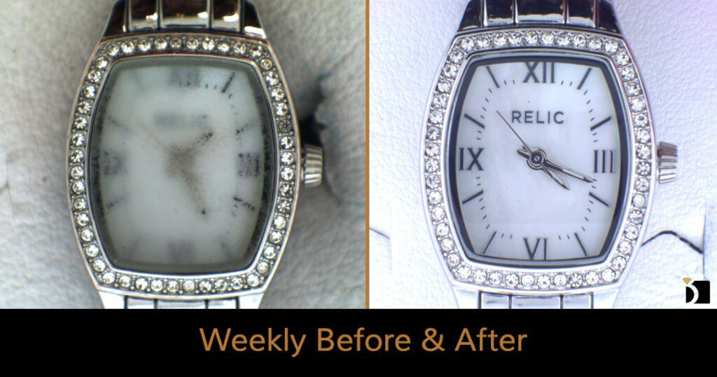 Image Showcasing Weekly Before After 51: a Relic Watch Repair