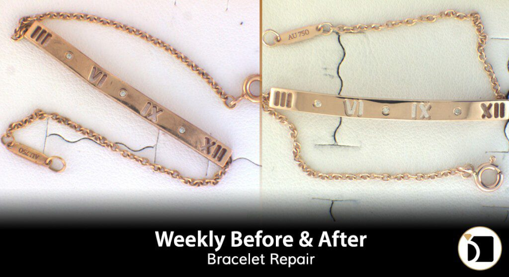 Tiffany Bracelet Repair & Restoration. Weekly Before After 74
