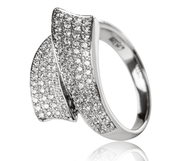 Image Showcasing White Gold Ring with a Rhodium Plating